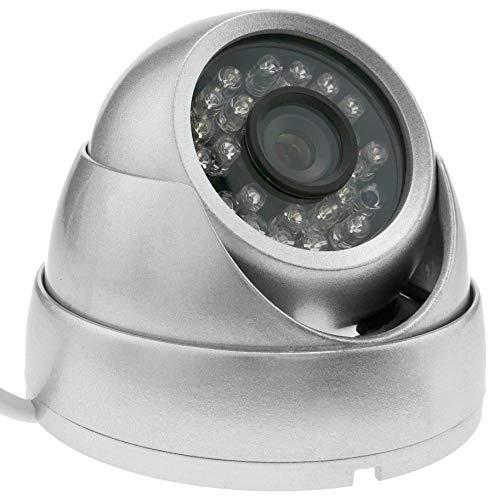 BeMatik - Cámara domo 700TVL metálica 24 LED 70x93mm