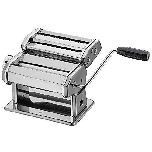 WMF Gourmet Nudelmaschine Edelstahl 19,5x 12,5x 12,5 cm, 9 Teigstufen, ideal für Teigplatten, schmale und breite Nudeln