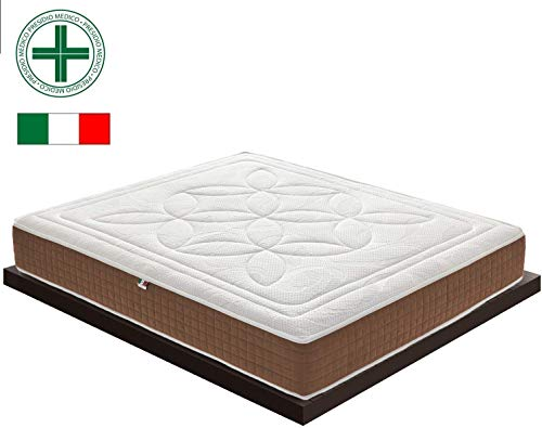 Black Friday matras, tweepersoonsbed, traagschuim, 5 cm, orthopedisch, van microvezel, orthopedisch, antibacterieel, 100% Made in Italy