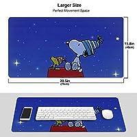 スヌーピー Snoopy マウスパッド 光学マウス対応 パソコン 周辺機器 超大型 防水 洗える 滑り止め 高級感 耐久性が良い 40*75cm