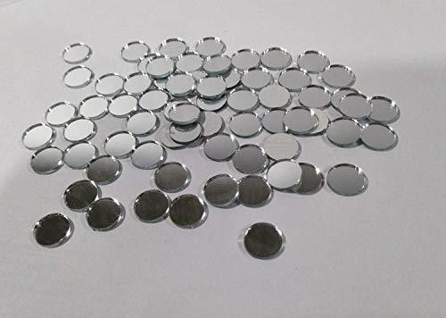 Ronde glazen spiegel mozaïek tegels, ambachten glas spiegel tegels, echte cirkel glas spiegel tafel Scatter, ronde spiegel mozaïek 10mm ZILVER