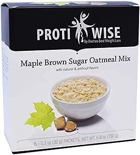 ProtiWise - Maple Brown Sugar Oatmeal   High Protein, Cholesterol Free, Sugar Free, Low Fat Low Carb (6/Box)