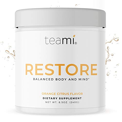Teami Restore Calcium Magnesium Supplement - Our Best Orange Flavored Cal Mag Powder Drink Mix with Vitamin C to Reset. Recharge. Calm. - All Natural, Vegan, Gluten Free, and Non-GMO