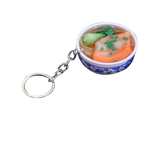 Emorias 1Pcs Chinese Food Pork Keychain Hanging Ornament Keyring for Hangbag Purse Bag Accessories