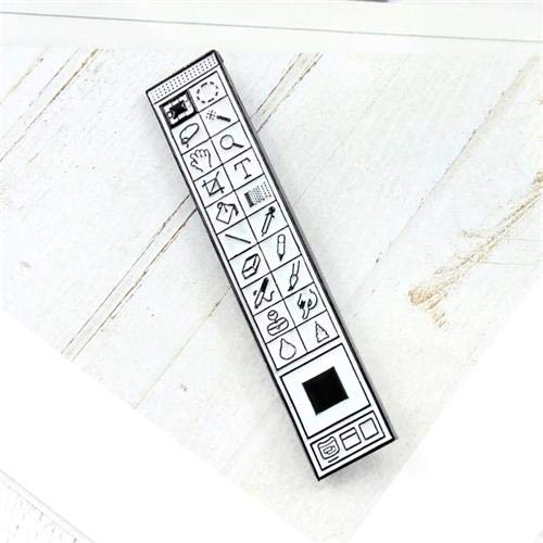 XIONGZ Neuer Trend Cartoon Software Toolbar Brosche kreative Mode Zeichnung Software Brosche Rucksack Shirt Freunde Geschenk, Stil 1