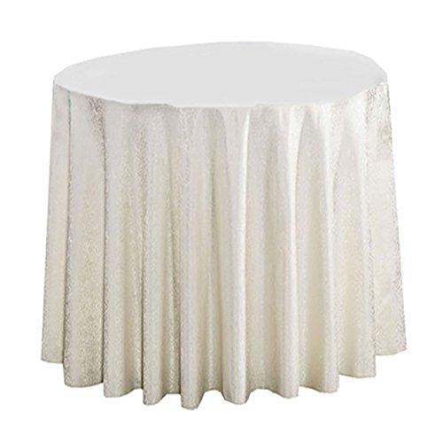 LSHEL Einfache hochwertige Doppeldecker Classic Floral Hotel Tischdecke Runde Tischdecke Tisch Rock quadratische Tischdecke, Beige, Runde 3.8m