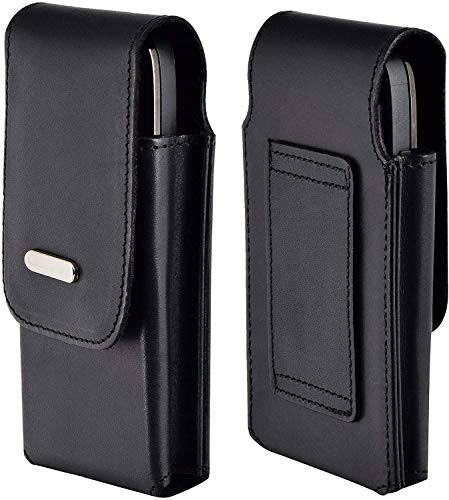 Favory-Shop Vertikal Etui kompatibel mit iPhone SE 2020 Köcher Tasche Hülle Ledertasche Vertical Hülle Handytasche mit Einer Gürtelschlaufe auf der Rückseite