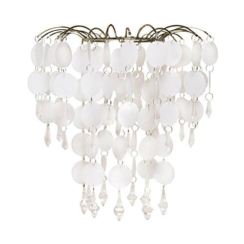 Just Contempo kroonluchter plafond hanger licht schaduw - wit