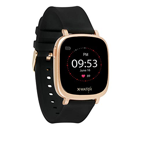 X-WATCH IVE XW FIT Uhr – Fitness-Coach – Schrittzähler-Schlafanalyse – Workout-& Pulstracker – Kalorientracker f. Android & iOS 54055