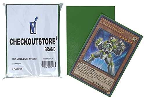 CheckOutStore 10,000 Matte Green Protective Sleeves Yu-Gi-Oh, Cardfight Vanguard (62 x 89 mm)