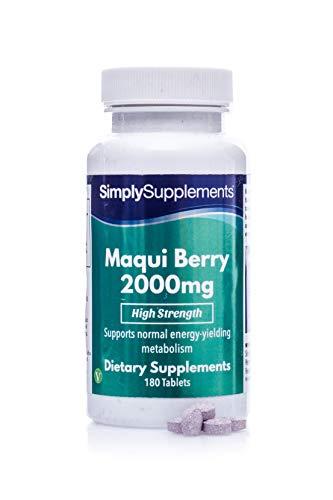 Baie de Maqui 2000mg | 180 Comprimés | Adapté aux Végétaliens |Jusqu'à 2 mois de bienfaits |SimplySupplements