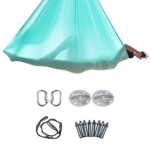 Best Prices! XIONGGG Yoga Inversion Swing Aerial Yoga Hammock Swing with Daisy Chains Carabiners Fab...