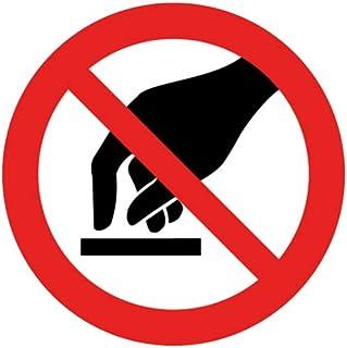 intratec prohibición de Caracteres Prohibido Tocar Seguridad Cartel Prohibido warnschild 200mm de NO Auto-Adhesivos PVC operativos Equipamiento
