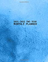 2021-2022 Two Year Monthly Planner: Planner Gifts, 24 Months Agenda Planner, Holidays, Monthly Calender Appointments Planner, Password Log, 2 Year ... Schedule, blue Watercolor Organizer Logbook