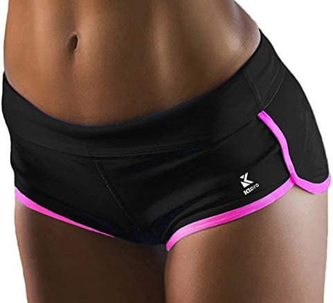 Kipro Regular Shorts Dance Yoga Sexy Exercise Dolphin Shorts Black Pink Small product image