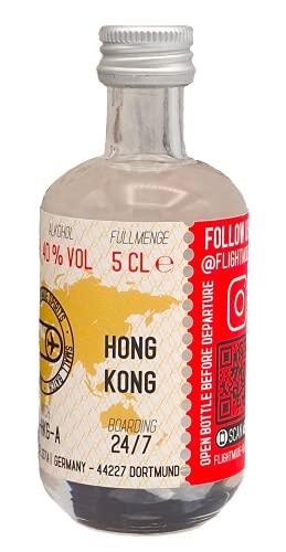 Exklusiver FLIGHT MODE GIN Hong Kong Edition Miniatur | 50ml | Ingwer und Galgant | mit frischen Noten von Lemongrass und Limetten