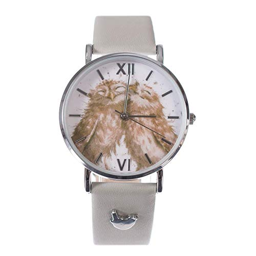 Wrendale Designs Birds of a Feather Watch Eule Armbanduhr mit Lederband