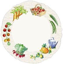 MAISON A VIVRE Assiette plate 26 cm 'potager' (lot de 6)