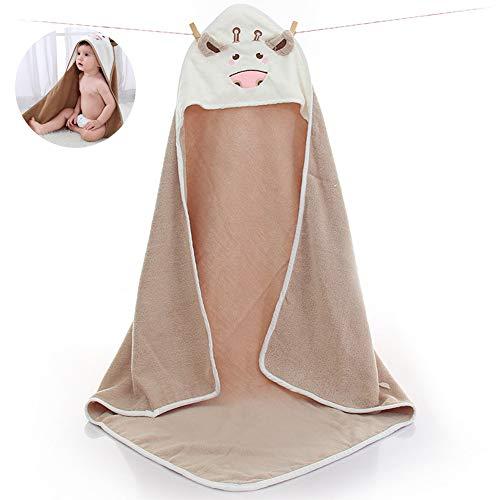 1PC Cotton Baby Kapuzen Handtuch BadeTücher Tier BadeMantel BaumwollTuch Decke für Neugeborene Kleinkinder (Kaffee)