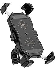 Ichiha 【令和3年最新改良】1秒ロックアップ スマホホルダー 自転車 自転車用 スマホ ホルダー bike phone mount smartphone holder 防振 落下防止 バイク スマホホルダー ステンレス & 高品質樹脂製 携帯ほるだー スマートフォン振れ止め 脱落防止 uber eats 携帯ホルダー 4.5-6.5 インチ に適用多機種対応 360度回転 脱着簡単 片手操作 自由調節 優れた耐久性 強力な保護 [日本語説明書付き]