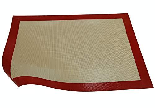 Silikon Backmatte–Make & Bake Profi Back und Gebäck, antihaftbeschichtet, rutschfest, Silikon, XL 58.5 x 38.5cm