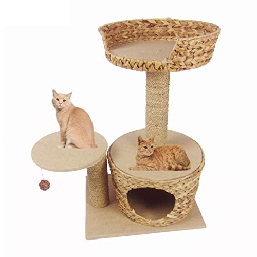 Kratzbäume Cat Scratch Beiträge Katze Kletterturm Katze Turm Sisal Rattan Cat Klettergerüst Kratzbaum Katzentoilette Katze Villa Vier Jahreszeiten Universal-Spielzeug
