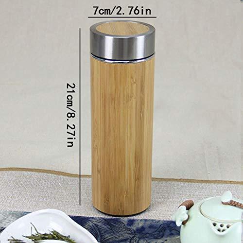 400 ml Bamboe Travel Thermosflessen RoestvrijstalenWaterflesThermosflessenGeïsoleerde termos mok thee bardak beker Aangepast nieuw, origineel