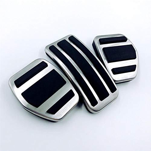 TMAAORS MT Edelstahl Auto Fußstütze Modifizierte Pedalauflageplatte Autozubehör, Für Peugeot 301 2008 2015-2018 207 Citroen C4L C4 C3-XR
