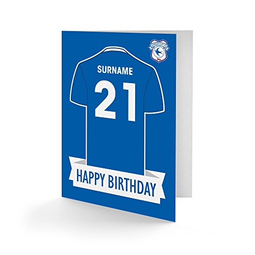 Official Personalised Cardiff City FC Shirt Birthday Card