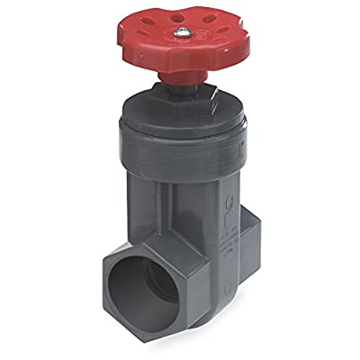 NDS GVG-1250-S 1-1/4-Inch Slip PVC Schedule 80 Gate Valve, Gray from King Brothers Inc.