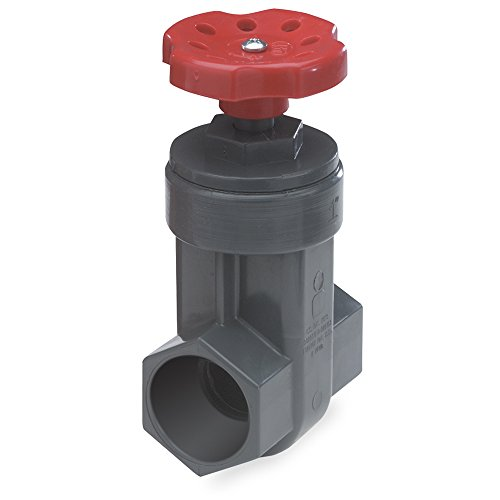 Nds Proguard Gate Valve, 2 In, IPS Hub, Sch 80 Pvc, Gray Body, Red Handle