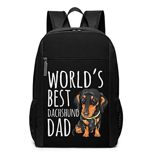 World Best DAD Laptop Backpack Travel Computer Business Backpack College School Bookbag for Men Women Boys Black 17 Inch