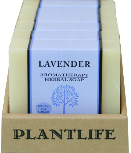 Plantlife Value 6-Pack Aromatherapy Herbal Soap with Natural Ingredients - Lavender - 4 oz each