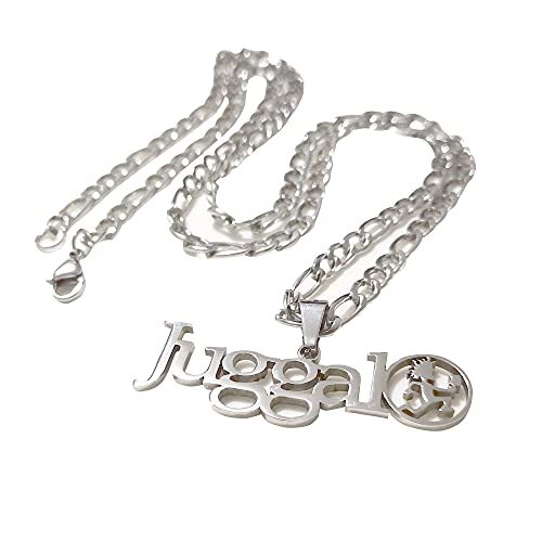 GNAYYHZ151 Silver ICP Letter Juggalo Pendant Necklace Stainless Steel ICP Hatchetman Charms Chain 4mm24 inch
