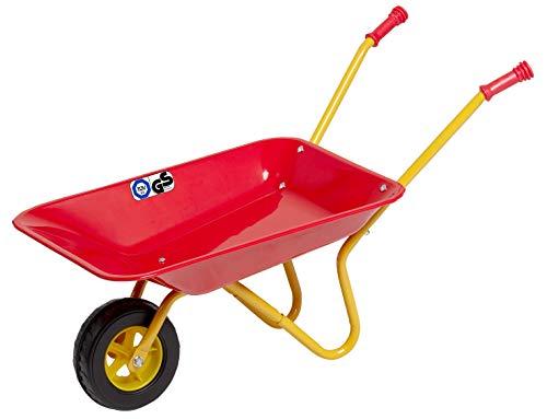 Izzy Kinderschubkarre ab 2 Jahren Metallschubkarre Kinder Metallschüssel Kunststoffgriffe belastbar bis 35kg