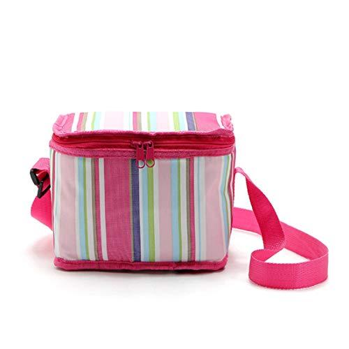 LHY TRAVEL Gestreifter Picknickkorb der kühlbaren Tasche des Picknickkorbes tragbarer kühlender Beutel des Picknick-Eissacks,A,S