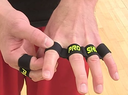 Buckeye Nation Sales PRO Shot Basketball Training Equipment Aid ~ Finger Spacer Sleeve Dribbling Shooting Aid ~ Made in USA