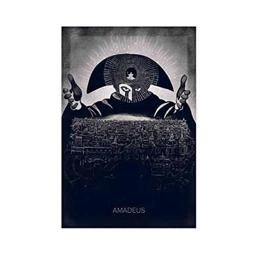 Amadeus Poster sur toile style rétro 30 × 45 cm Sans cadre Style 1