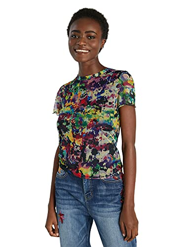 Desigual TS_ELOISSE Camiseta, Multicolor, XXL para Mujer