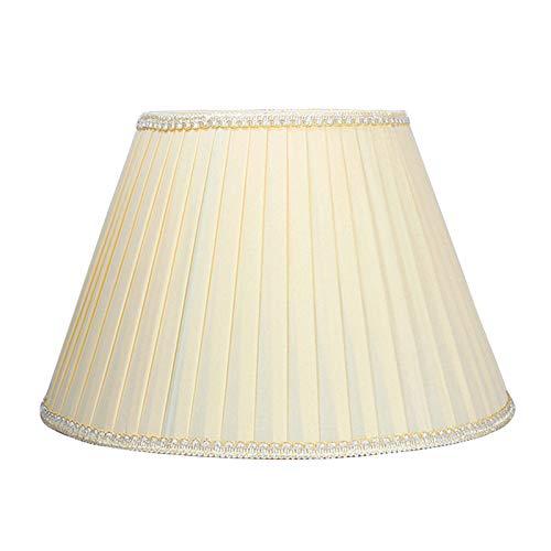 MYMAO Pantalla Plisada, Adecuada para la lámpara de Escritorio, lámpara de pie, Color de Albaricoque,40CM