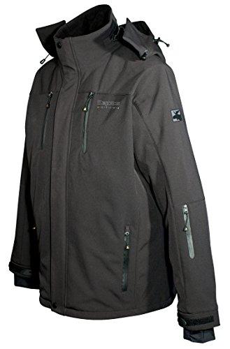 DEPROC-Active Herren Softshell-Skijacke und Winterjacke für Chicopee Jacke, Black Print, XL