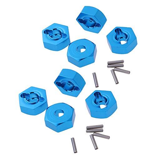 Sharplace Piezas de Actualización del Adaptador de 12 Mm con Unidad Hexagonal de Rueda de 8 Piezas Aptas para Coches Modelo HSP 1:10 RC