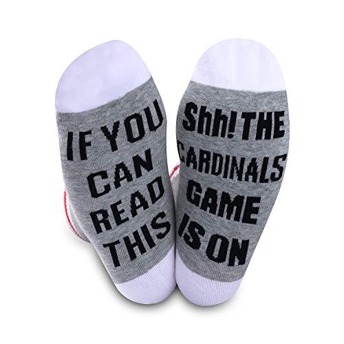 Fußball-Geschenk, Kardinals-Geschenk, Baseball-Geschenk, The Cardinals Game is On Football, Baseball-Kardinals, Team-Spiel-Socken Gr. M, Kardinäle