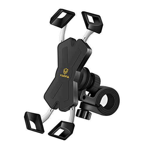 visnfa New Bike Phone Mount with Stainless Steel Clamp Arms...