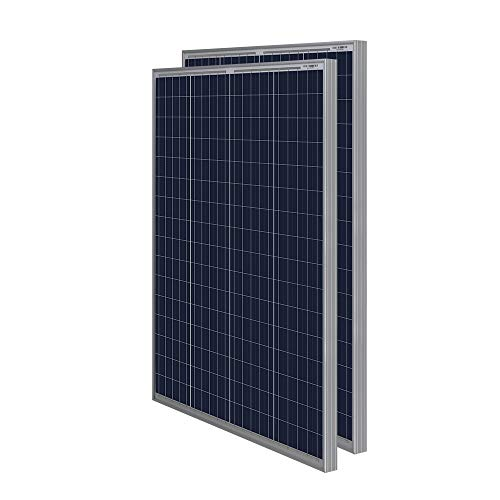 HQST 2 Packs 100 Watt 12 Volt Polycrystalline Solar Panel with MC4 Connectors High Efficiency Module PV Power for Battery Charging Boat, Caravan, RV and Any Other Off Grid Applications