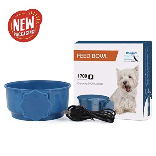 Beheizter Wassernapf für Haustier Beheizte Pet Bowl Hundenapf Futternapf Robust Konstante Temperatur Wasserfutter für Hunde Katze Hasen Hühner im Winter 10W