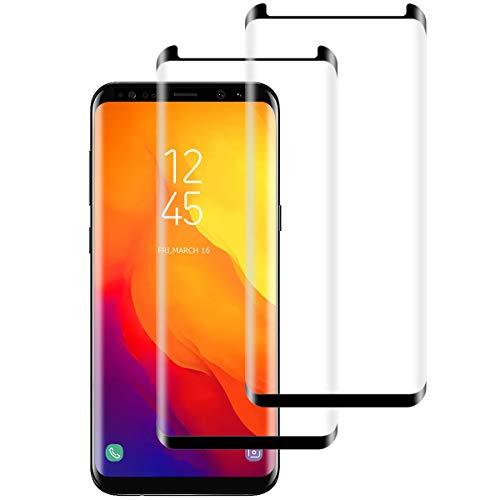 Aspiree 2 Piezas Samsung Galaxy S8 Protector Pantalla, Cristal Templado para Samsung Galaxy S8, [Anti-arañazos] [9H Dureza] [Sin Burbujas] Vidrio Templado Samsung Galaxy S8
