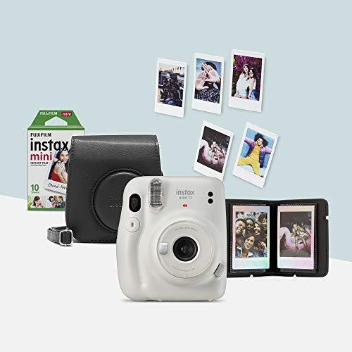 Fujifilm instax mini 11, Camera Bundle, Amazon Exclusive, Bianco (Ice White)