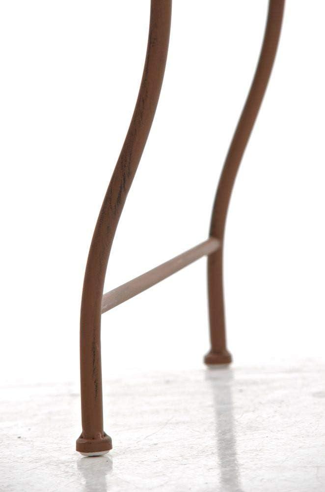 Meuble de Jardin avec Surface 45 x 45 cm en Diff/érentes Couleurs Marron antique Table de Balcon de Style Nostalgique en Fer Hauteur 46 cm CLP Table de Jardin Carr/ée ZARINA Table de Terrasse /à 4 Pieds Stable