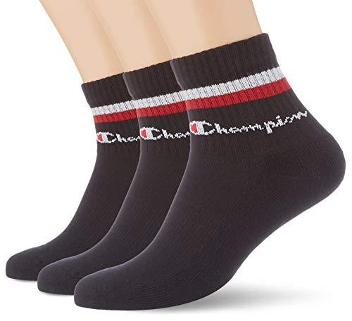 Champion Chaussettes Legacy Fashion Ankle x3 Calcetines Tobilleros, Lot Noir, 39-42 para Hombre